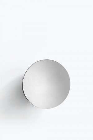 New Works -Aura Wall Mirror Silver / L