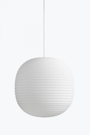 New Works - Lantern Pendant / Frosted White / 40